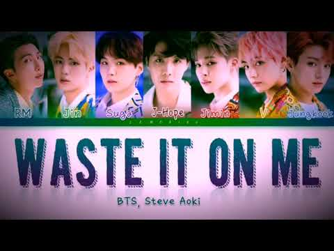 Waste It On Me - Steve Aok & BTS 'Lyrics'