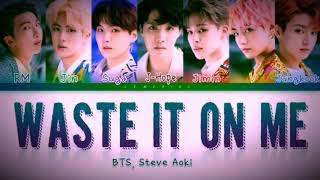 Gambar cover Waste It On Me - Steve Aok & BTS 'Lyrics'