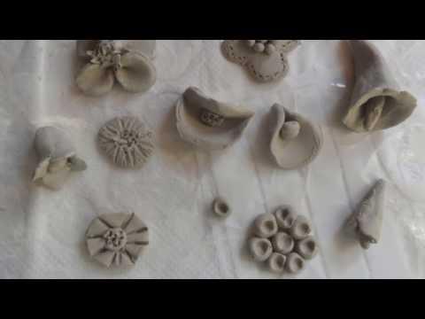 Basiswissen: Töpfern von Hand ohne Scheibe, für Anfänger - Blumen töpfern,  Verzierungen töpfern,