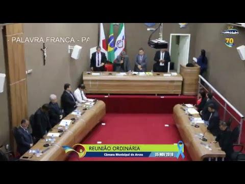 Reunião Ordinária (05/11/2018) - Câmara de Arcos