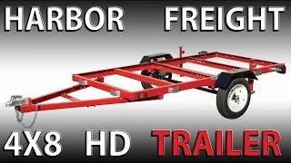 Assembling A HARBOR FREIGHT 4x8 Heavy Duty Folding Trailer