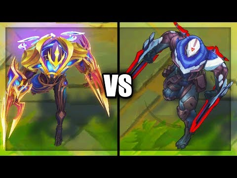 Legendary Galaxy Slayer Zed vs PROJECT Zed Skins Comparison (League of Legends)