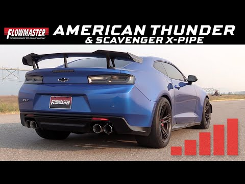 2016-19 Camaro SS, ZL1 6.2L - American Thunder Axle-back NPP & Scavenger X-Pipe