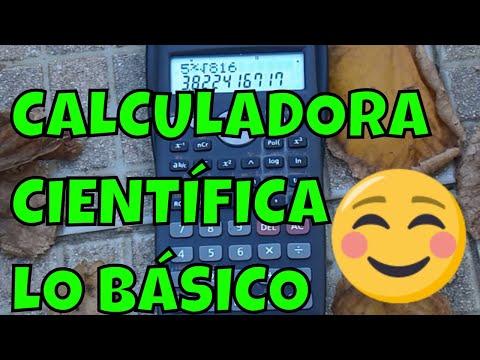 COMO USAR UNA CALCULADORA CIENTÍFICA BÁSICA ( tutorial )
