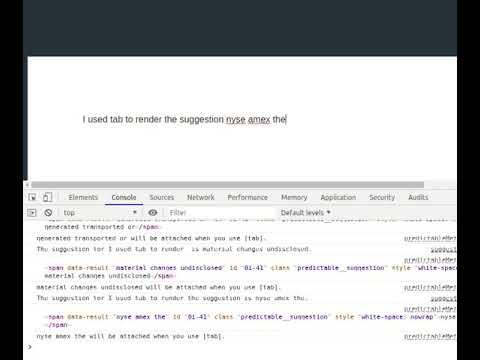 Smart compose demo with React