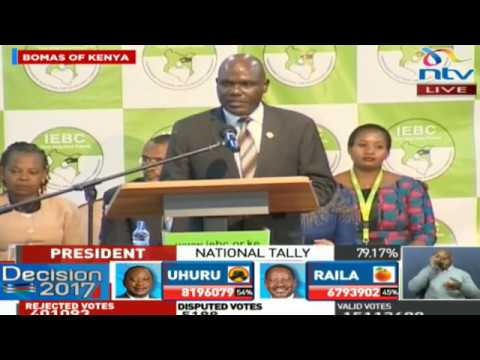 IEBC Chairman Wafula Chebukati's speech upon the announcement of the Presidential Results