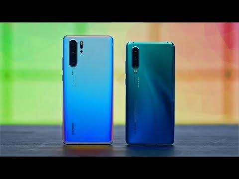 Смартфон Huawei P30 Breathing Crystal 6/128Gb голубой - Видео