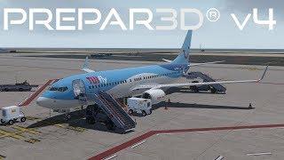 Prepar3D v4 3 | Frankfurt to Natal | EDDF-SBSG | PMDG 777-200F | P3D
