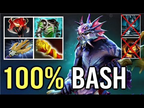 OMG 100% BASH After 3 Hits New 7.20 Slardar Mid Counter PA Clinkz Max Attack Speed WTF Dota 2