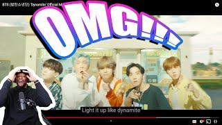 BTS (방탄소년단) 'Dynamite' Official MV | REACTION!!!