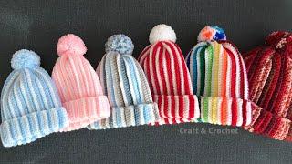 Easy & Fast Crochet Kids Hat/crochet Beanie/crochet For Beginners