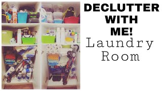 DECLUTTER WITH ME | Laundry Room | Storage Closet