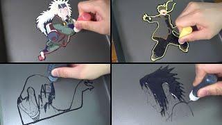Naruto Pancake Art - Naruto, Jiraiya, Sasuke Uchiha, Itachi Uchiha