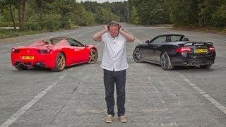 [Autocar] Ferrari 458 Spider vs Jaguar XKR-S: which sounds best?