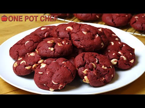 Red Velvet Chocolate Chip Cookies   One Pot Chef