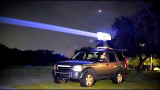 200 Watt car mounted laser!