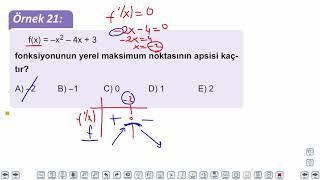 Eğitim Vadisi AYT Matematik 19.Föy Türev 2 Konu Anlatım Videoları