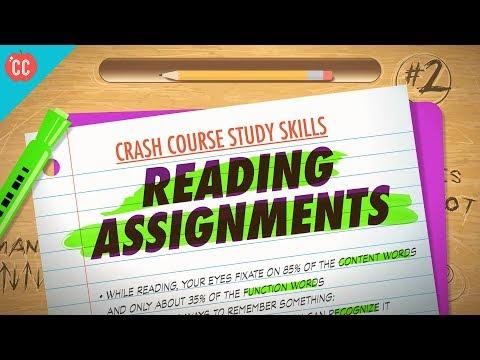 Reading Assignments: Crash Course Study Skills #2