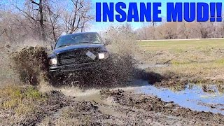 MUDDING WITH LIFTED TRUCKS IN THE BEST MUD