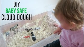 TODDLER ACTIVITIES AT HOME: DIY CLOUD DOUGH (EASY & TASTE SAFE) | SENSORY PLAY FOR BABIES & TODDLERS