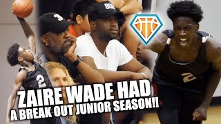 DWYANE WADE Watches ZAIRE WADE Have BREAKOUT SEASON!! | Full Junior Year Highlights