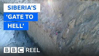 Siberia's 'gate to hell' is getting bigger - BBC REEL