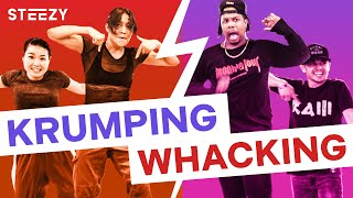 Krump Vs. Whacking – Dancers Learn Each Other's Dance Styles! | STEEZY.CO