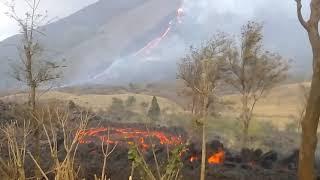Conozca los flujos de lava activos del volcán de Pacaya