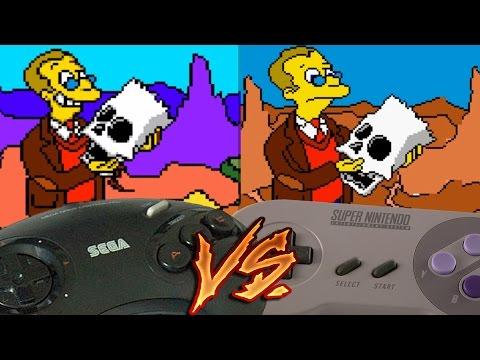 Sega Genesis Vs Super Nintendo - Virtual Bart