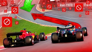 Racing BACKWARDS at F1 Tracks With A Full Grid Online on F1 2020!