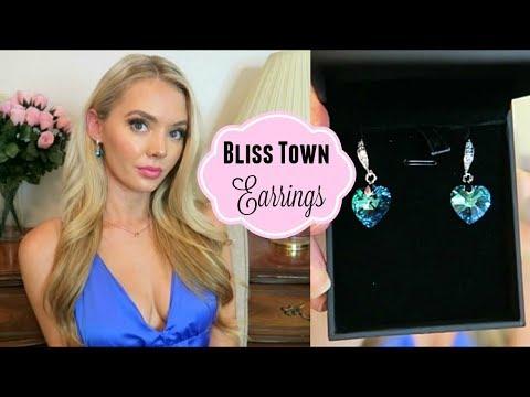 BLISS TOWN JEWELRY Blue Heart Earrings Review