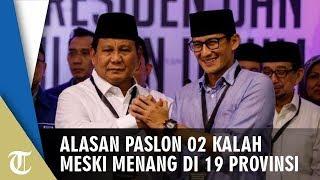 Kenapa Prabowo-Sandi Kalah Padahal Menang di 19 Provinsi Kalahkan Jokowi-Ma'ruf? Ini Penjelasannya