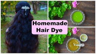 2 Natural Homemade Hair Dye Recipes | Turn Grey Hair To Black Naturally | 100 % Herbal
