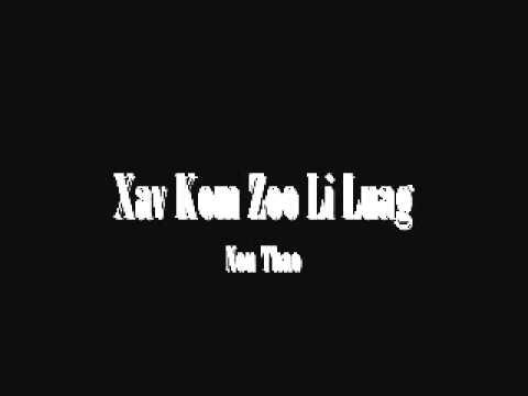Nou Thao - Xav Kom Zoo Li Luag