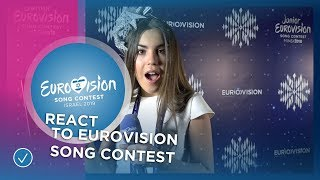 Junior Eurovision stars react to the Eurovision Song Contest