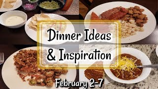 WHAT'S FOR DINNER? | FEBRUARY 2-7 | EASY MEAL IDEAS | MANDY IN THE MAKING