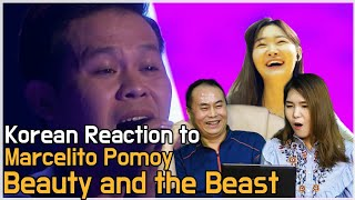 The Legend. Korean reaction to 'Beauty and the Beast' by Marcelito Pomoy / AGT