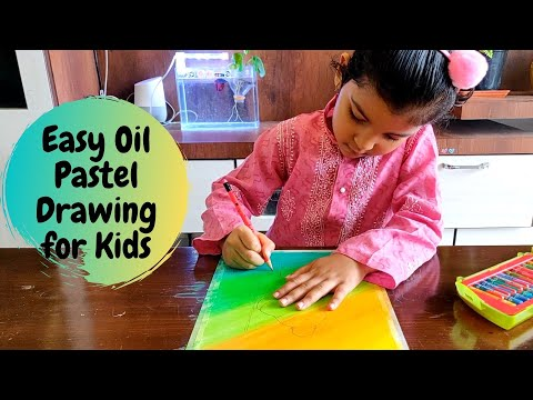 Easy Oil Pastel Drawing for Kids | Gandhi Drawing | Oil Pastel Art for Kids | World Non Violence Day
