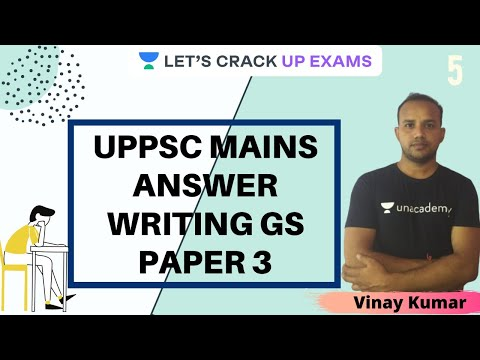 Part-5 Uppsc Mains Answer Writing GS Paper 3 | UPPSC 2020/2021 | Vinay Kumar Tripathi