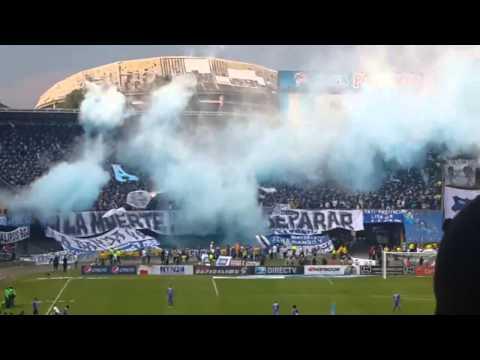 """Salida de Millonarios vs nacional 09.02.14 Comandos Azules-Blue Rain"" Barra: Blue Rain • Club: Millonarios"