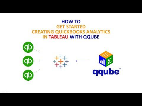 Creating Quickbooks analytics in Tableau using QQube