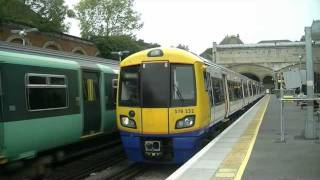 preview picture of video 'London Overground and Southern trains at  CrystalPalace (London)'