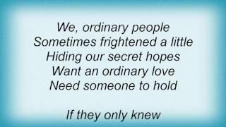Basia - Ordinary People Lyrics