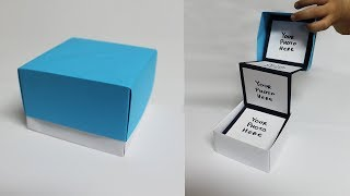 DIY Pull Out Photo Box - Photo Box For Boyfriend