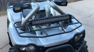 How to mount led light bar to an atv and not drill through plastics how to make a simple led light bar mount for atvsjeeps aloadofball Choice Image