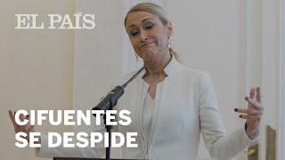 CIFUENTES RENUNCIA   Discurso íntegro de la expresidenta de la Comunidad   España