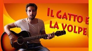 """Tutorial Chitarra ➔ """"Il Gatto E La Volpe"""" - Bennato [Accordi Facili ITA]"""