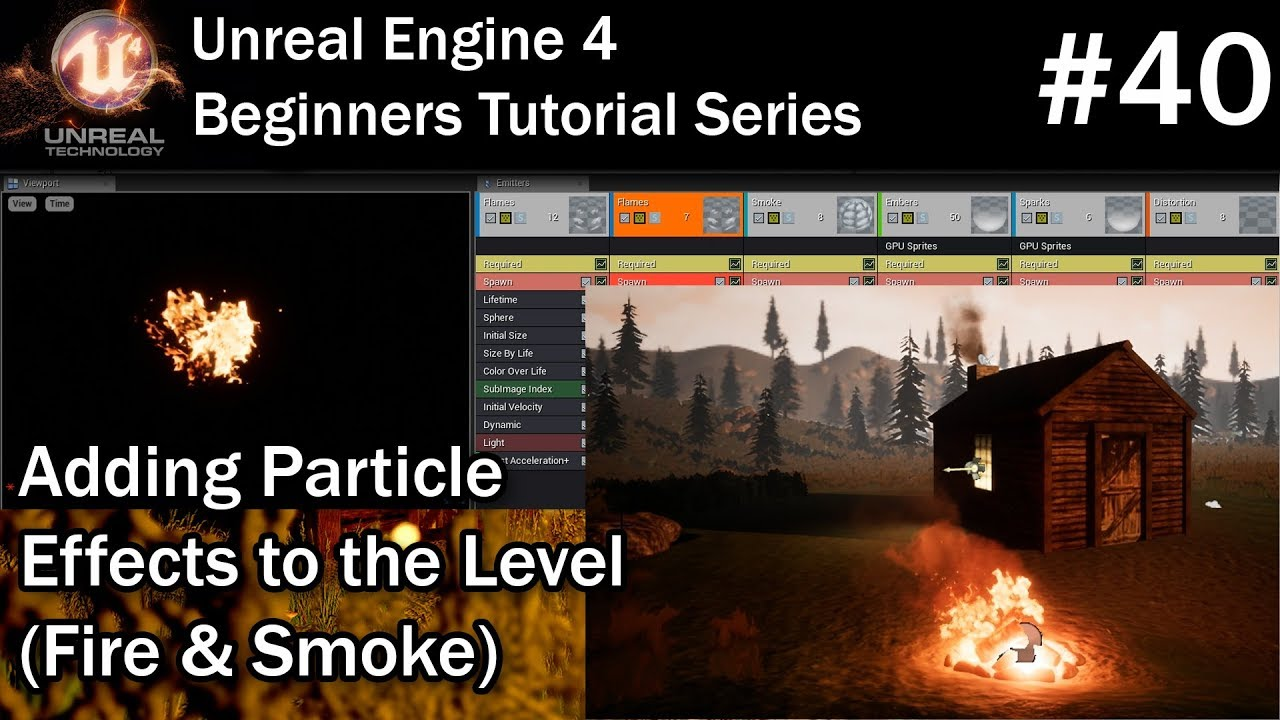 #40 Adding Particle Effects in Unreal Engine 4 | UE4 Tutorial
