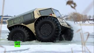 Real ATV: Russian badass lunar-rover like truck storms swamps, lakes, forests