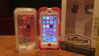 Pink IPod 6 W/ Griffin Survivor Case Unboxing And Impressions!